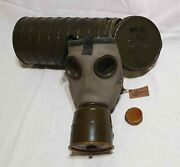 Gas Mask Fmp - Concordia Model + Canister Royal Army Romania Germany 1939 Ww2