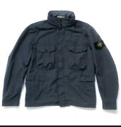 Stone Island David Tela Light-tc Jacket Navy Size Xl