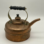 Vintage Solid Copper Simplex Patented Tea Kettle, Made In England W Patina