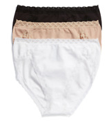 Natori 22830 Womens Multicolor Bliss 3-pack French Cut Briefs Size Large