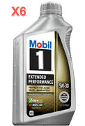 6 Quarts Engine Motor Oil Mobil1 Extended Performance Full Synthetic Sae 5w-30