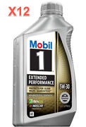12 Quarts Engine Motor Oil Mobil1 Extended Performance Full Synthetic Sae 5w-30