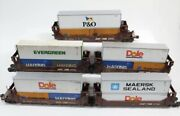 ✅mth Premier Norfolk Southern 5 Car Twin Stack Set Weather 20-90841 Double Husky