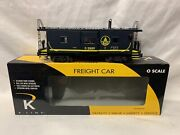 ✅k-line By Lionel Baltimore Ohio Smoking Bay Window Caboose For Diesel Engine