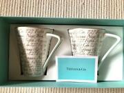 And Co. Pair Mug Cup Gift Address Design Discontinued Rare Japan F/s New