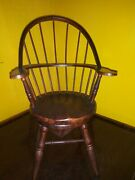 Rare Miniature Early American Style Windsor Doll Chair With Musicbox