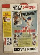 1970 Kelloggs Baseball 3d Complete Cereal Box 1st Year Brooks Robinson Pete Rose