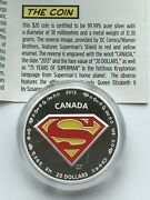2013 Canada 20 Silver Superman Shield Coin And Stamps And Postcards Setrare