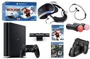 Playstation Console And Playstation Vr Holiday Bundle Ps4 Slim 1tb Video Game