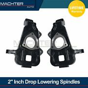 New 2 Drop Lowering Spindles Front 5.7l 4.7l For 2002-2018 Dodge Ram 1500
