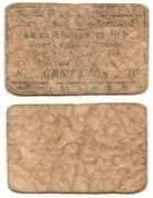 1942 Philippines Wwii 1st Issue Aklan Military Bill Issue S205 10 Centavos Rare