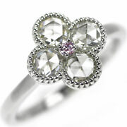 New Pt900 Rose Cut/natural Pink Diamond Ring 0.762 Ct Pd0.03ct Selby_japan
