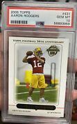 2005 Topps Aaron Rodgers Gem Mint Psa 10 Rookie Card Green Bay Packers Football