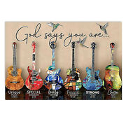 Guitar God Says You Are Unique Special Horizontal Poster Guitar Lover Idea Gif