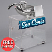 Heavy-duty Commercial Snow Cone Maker Shaved Ice Machine Electric Sryup Slushie