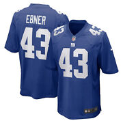 Brand New 2021 Nfl Nate Ebner New York Giants Nike Game Player Jersey Nwt 43
