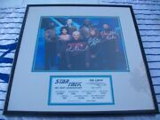 Star Trek Signed The Next Generation Framed Photo Limited Edition 334 Of 2500
