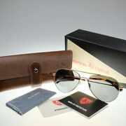 New American Optical General Gold 55mm Gray Glass Ao Sunglasses Menand039s