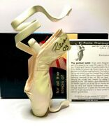 Just The Right Shoe En Pointe - Champagne 25239 Exclusive Signed By Rain
