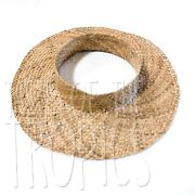 Pre-order Discount Woven Hawaiian Lauhala Hat - Crownless Straw Sun Hat Papale