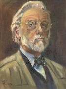 Terry Shelbourne 1930-2020 - 1994 Oil, Self-portrait With Bow Tie