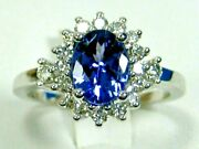 Rare Tanzanite Ring 18k White Gold Gia Appraised Heirloom Natural Aaa+ 6334