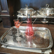 Antique Tray In Silver From The Epoch Georg Iii From England 1805