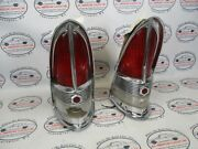 1955 Packard Tail Lights Left And Right Bezels And Lenses Oem Vintage Hot Rod Parts