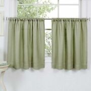 Elrene Cameron Two Tier Panels Curtains 60wandtimes24l Sage Green