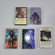 Cassette Stevie Ray Vaughan And Steve Vai 5 Classic Rock Guitar Album Lot Tapes