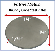 Round/circle Steel Plate | 1/4 Thick 14 Diameter | A36 Steel -made In Usa