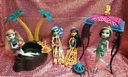 Monster High 13 Wishes Desert Fright Oasis Playset W/ Doll Lot Cleo Frankie