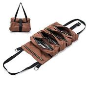 Super Tool Roll, Large Wrench Roll, Big Tool Roll Up Bag, Waxed Canvas Brown