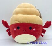 Squishmallows Indie Hermit Crab Red 8 Sealife Free Ship Daily + Intl Htf Nwt
