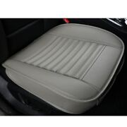 Gray Car Front Seat Cover Breathable Full Surround Pu Leather Chair Cushion - Us
