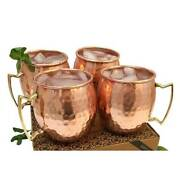 100 Pure Solid Hammered Copper Cups Mug Moscow Mule Cup Beer Mug From India