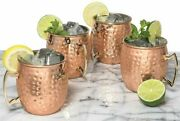 100 Pure Copper Solid Hammered Cups Mug Moscow Mule Cup Beer Mug From