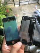 Apple Iphone 4s Black Touch Screen + Back Glass Lid Cover
