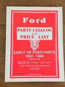 Ford Parts Catalog And Price List Early V8 1932-1948 Mac's Antique Auto Parts