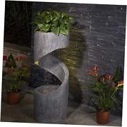 Patio Fountain Waterfall Decorative Tiered Outdoor Water Fountain With 31.3andrdquoh