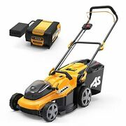 As 40v 16and039and039 Cordless Electric Lawn Mower With 5ah Battery And Charger 3-in-1