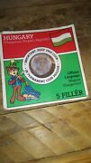 1970 Hungarian 5 Filler Coins In Factory Sealed Permanent Coin Holder