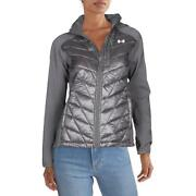 Under Armour Womens Encompass Gray Slim Fit Quilted Jacket Coat L Bhfo 8942