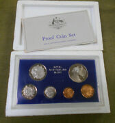 Mm. 1970 Australian Proof Coin Set - Rotated 5 Cent And 20 Cent