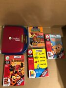 Leapfrog Leappad Plus Microphone Learning System And 4 Books/games Grade K-2 Grade