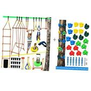 Obstacle Course For Kids And Rock Climbing Holds, Perfect For Backyard,