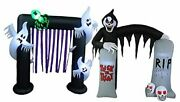 Two Halloween Party Decorations Bundle Includes 8 Foot Tall Inflatable Ghosts