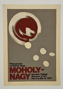 Moholy - NagyPhotographs 1979 Lithographie Originale Exposition Abstrait Photo