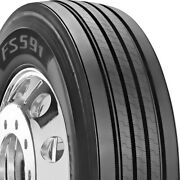 4 New Firestone Fs591 285/75r24.5 Load G 14 Ply Steer Commercial Tires