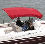 Shademate Ov80214ae Acrylic Bimini Top And Boot Only - Jocky Red